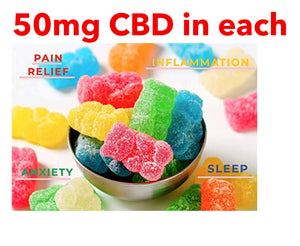CBD GUMMIES, 10 in pack