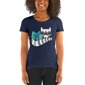 TheHumbleCrystal Raccoon Logo WOMENS Tri-Blend T-Shirt