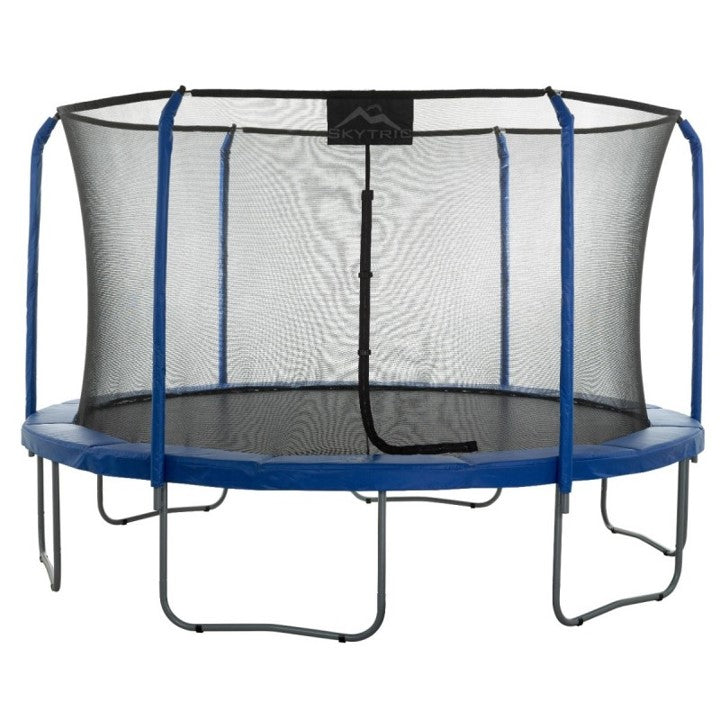 Skytric®13 FT Round Trampoline Set with Premium Top-Ring Flex Frame Safety Enclosure System
