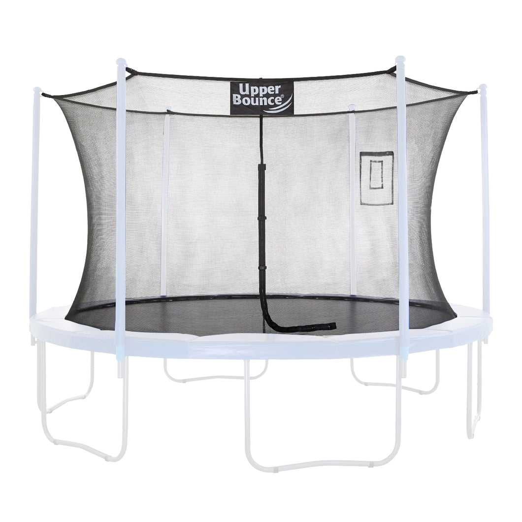 Upper Bounce Trampoline Safety Enclosure Replacement Net with Smartphone/Tablet Selfie & Livestream Pouch