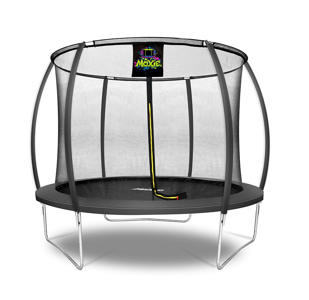 Moxie™ 10 FT Pumpkin-Shaped Outdoor Trampoline Set with Premium Top-Ring Frame Safety Enclosure