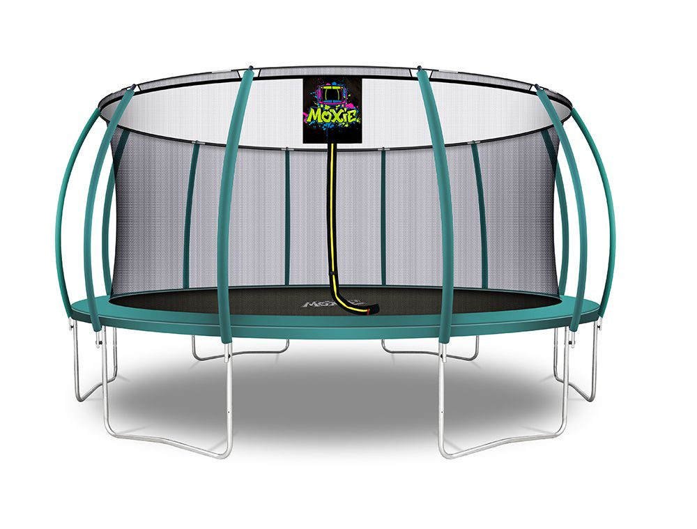 Moxie™ 16 FT Pumpkin-Shaped Outdoor Trampoline Set with Premium Top-Ring Frame Safety Enclosure