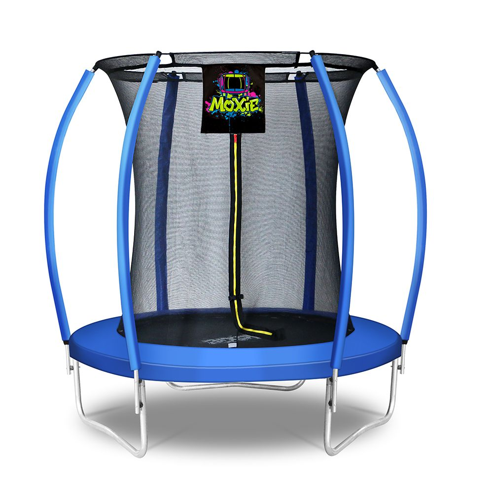 Moxie™ 6 FT Pumpkin-Shaped Outdoor Trampoline Set with Premium Top-Ring Frame Safety Enclosure