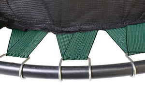 Upper Bounce  Replacement Jumping Mat with Bands, Fits 14 FT Round Flat-Tube Trampoline Frame