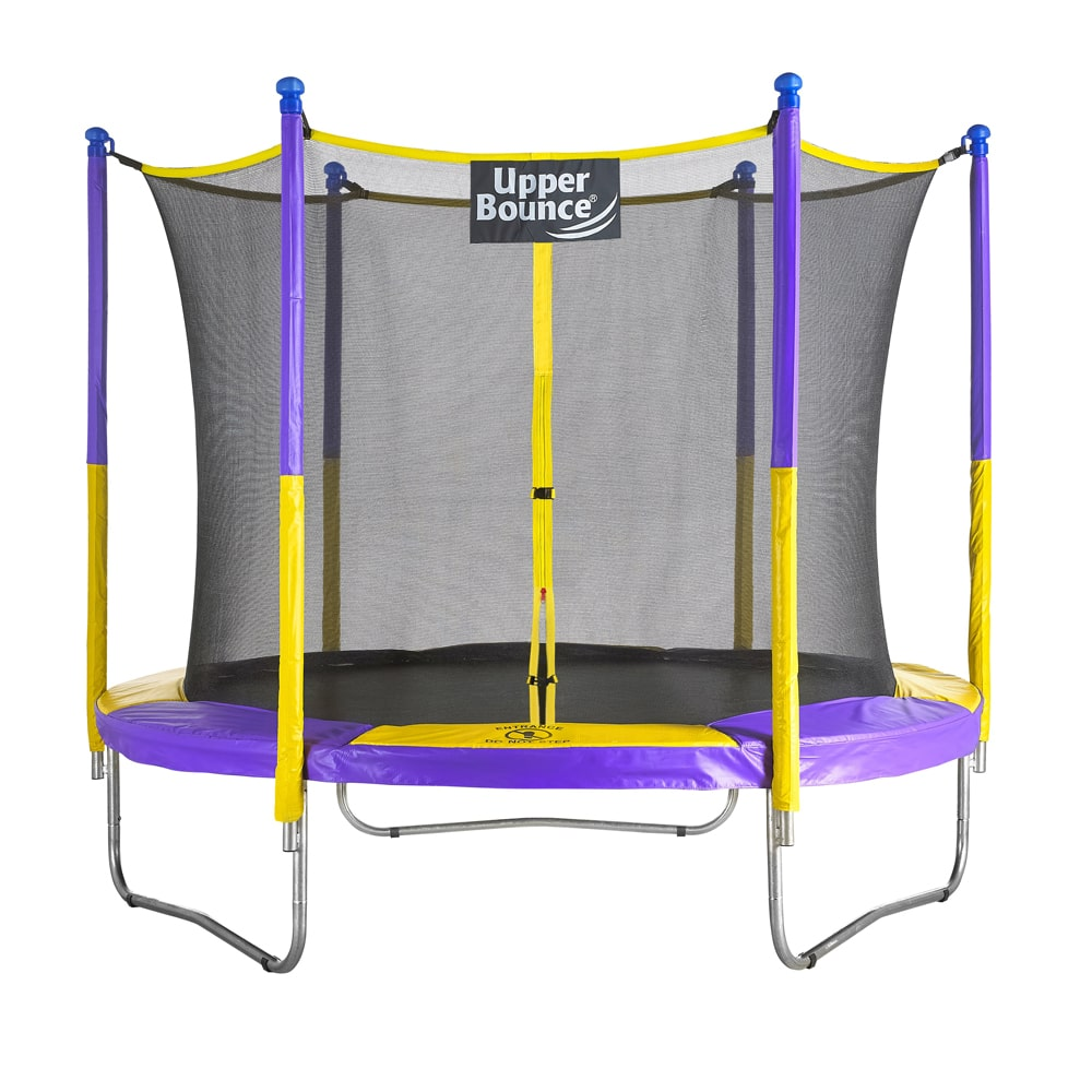 Upper Bounce 9 FT Round Trampoline Set with Safety Enclosure System