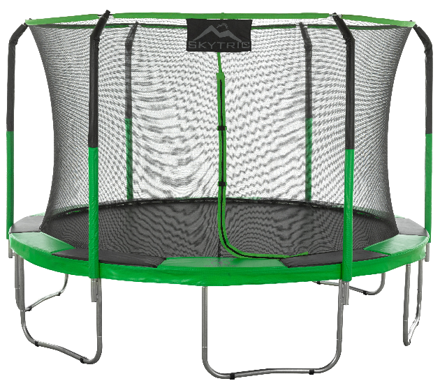 Skytric® 11 FT Round Trampoline Set with Premium Top-Ring Flex Frame Safety Enclosure System