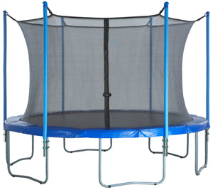Upper Bounce  Trampoline Safety Enclosure Set of Net, 6 Poles & Hardware, Fits 8 FT. Round Frame - Installs Inside Frame
