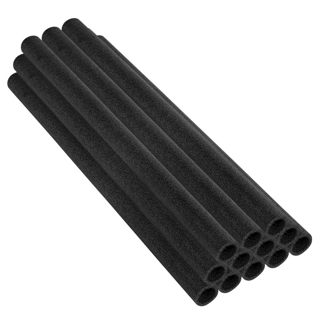 "Upper Bounce  44 Inch Trampoline Pole Foam sleeves, Fits 1.5"" Diameter Pole - Set of 12 -Black"