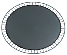 "Load image into Gallery viewer, Upper Bounce  Replacement Jumping Mat, Fits 17 x 15 FT Oval Trampoline Frame with 96 V-Hooks, using 7"" springs"