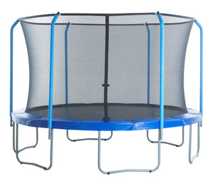 Upper Bounce  Replacement Safety Enclosure Net, Fits 8' Round Trampoline, using 6 Curved Poles with Top Ring Frame