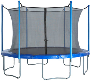 Upper Bounce  Trampoline Safety Enclosure Net, Fits 10 FT Round Frame, Using 6 Poles (or 3 Arches) - Adjustable Straps