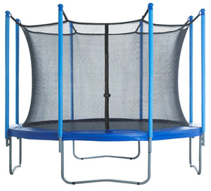 Upper Bounce  Trampoline Safety Enclosure Net, Fits 10 FT Round Frame, Using 8 Poles (or 4 Arches) - Adjustable Straps