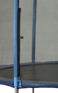 Upper Bounce  Trampoline Safety Enclosure Net, Fits 12 FT Round Frame, Using 4 Poles -  Installs Outside of Frame