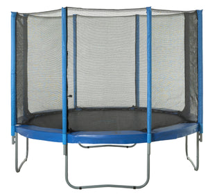 Upper Bounce  Trampoline Safety Enclosure Net, Fits 10 FT Round Frame, Using 8 Poles -  Installs Outside of Frame