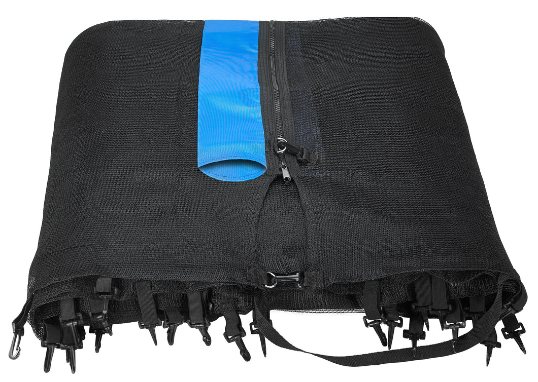 Upper Bounce  Trampoline Safety Enclosure Net, Fits 7.5 FT Round Frame, Using 6 Poles -  Installs Outside of Frame