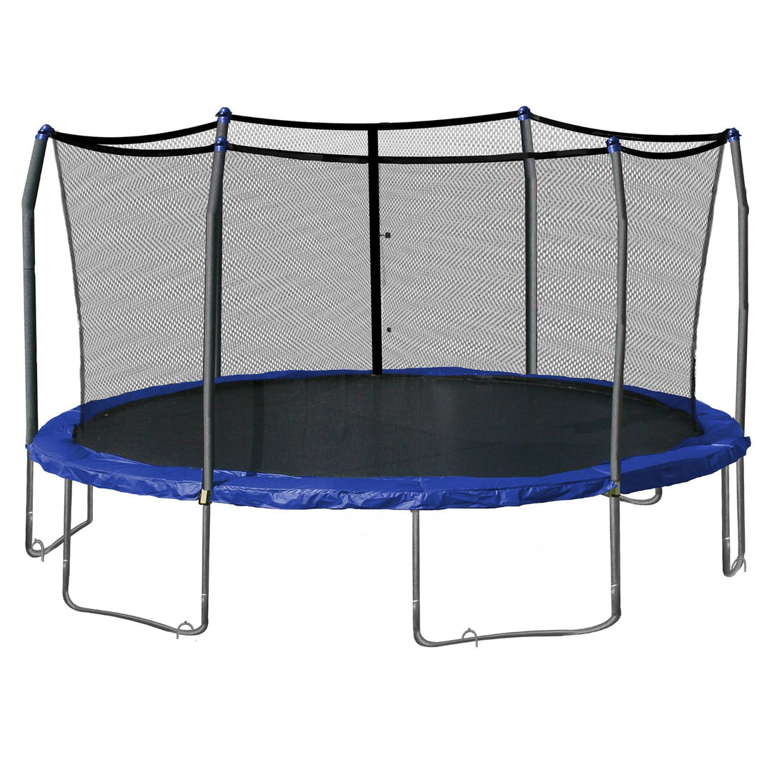 Upper Bounce  Trampoline Safety Enclosure Net, Fits 16' X 14' Oval Frame, Using 6 Poles -  Installs Outside of Frame