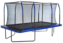 Load image into Gallery viewer, Upper Bounce   8' X 14'  Gymnastics Style, Rectangular Trampoline Set with Premium Top-Ring Enclosure System - Blue/Black