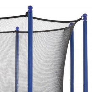 Upper Bounce  Trampoline Appearance Replacement Set, 10' Round Safety Pad with 8-pole Sleeve Protectors - Blue