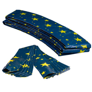 Upper Bounce  Trampoline Appearance Replacement Set, 8' Round Safety Pad with 8-pole Sleeve Protectors - Starry Night