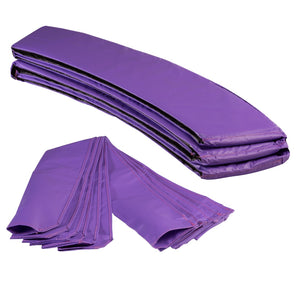 Upper Bounce  Trampoline Appearance Replacement Set, 7.5' Round Safety Pad with 6-pole Sleeve Protectors - Purple