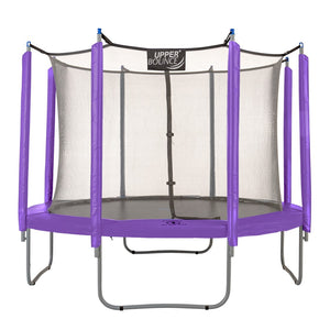 Upper Bounce  Trampoline Appearance Replacement Set, 10' Round Safety Pad with 8-pole Sleeve Protectors - Purple