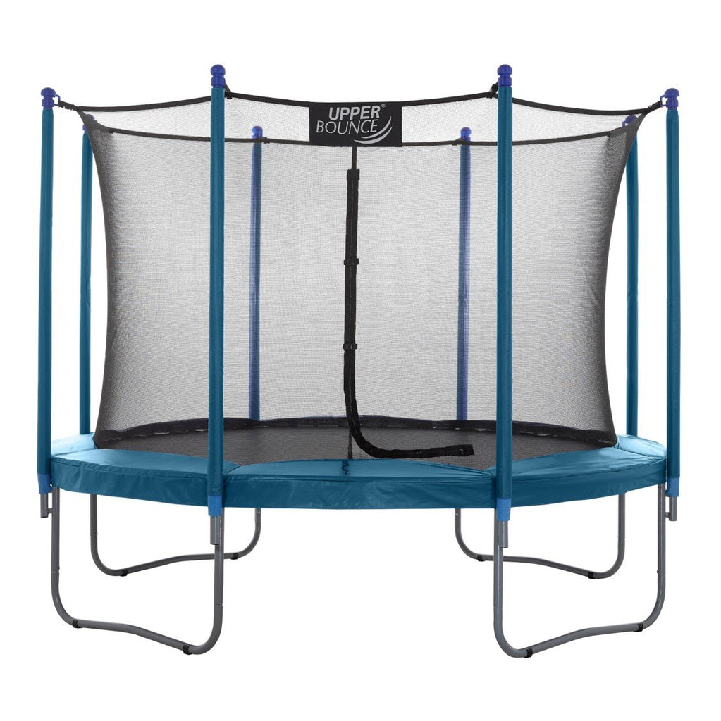 Upper Bounce 14 FT Round Trampoline Set with Safety Enclosure System