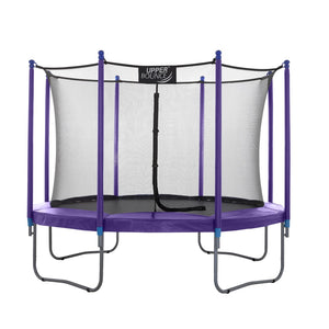 Upper Bounce  10 FT Round Trampoline Set with Safety Enclosure System - Purple