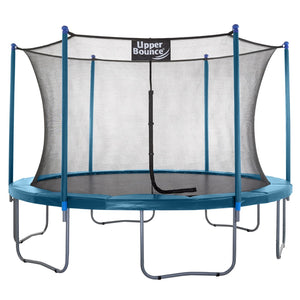 Upper Bounce  14 FT Round Trampoline Set with Safety Enclosure System - Aquamarine