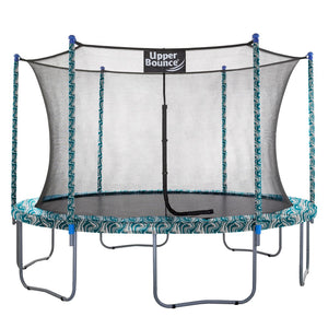 Upper Bounce  12 FT Round Trampoline Set with Safety Enclosure System - Maui Marble