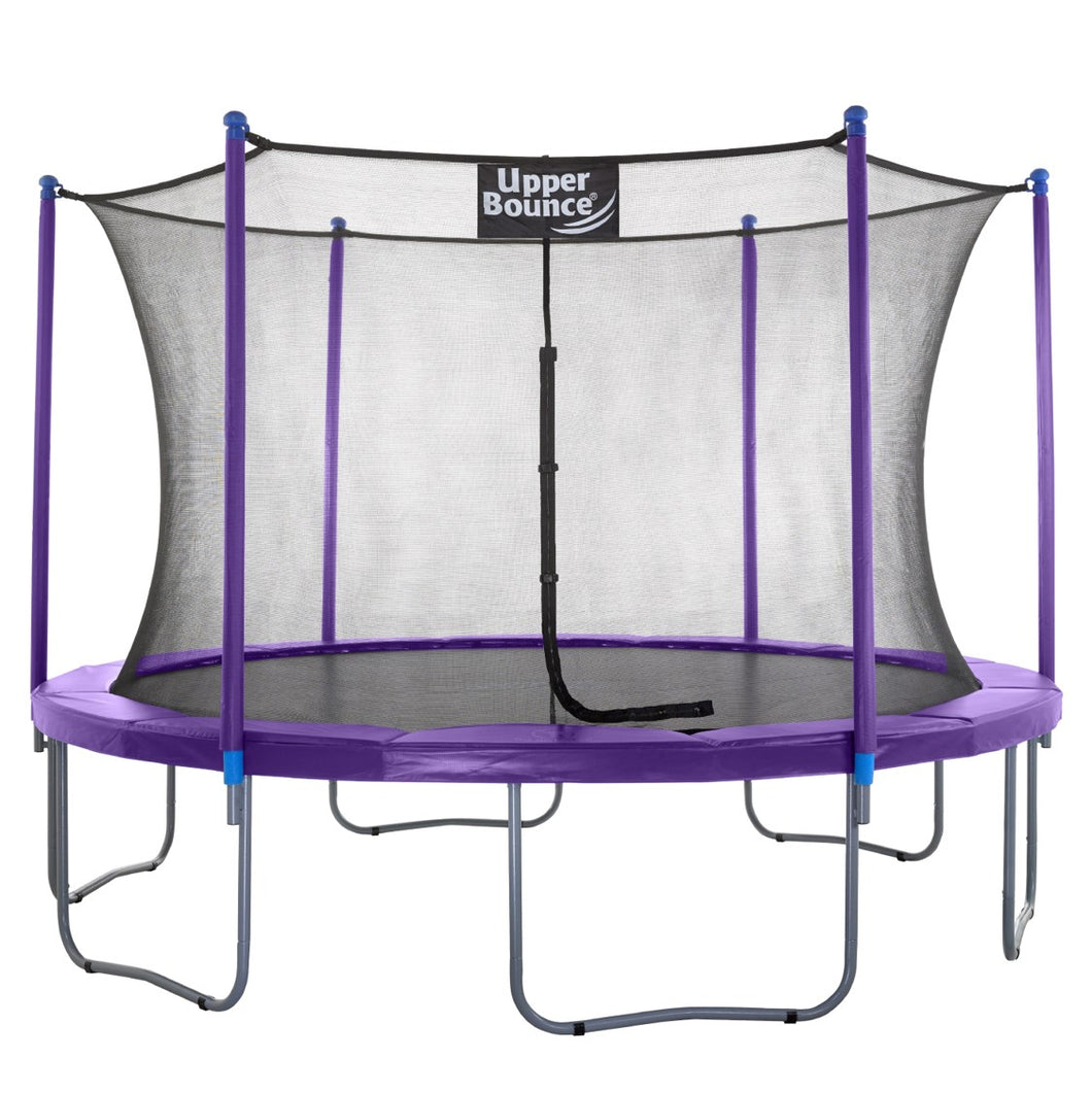 Upper Bounce  14 FT Round Trampoline Set with Safety Enclosure System - Purple