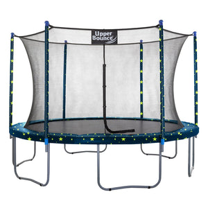 Upper Bounce  14 FT Round Trampoline Set with Safety Enclosure System - Starry Night