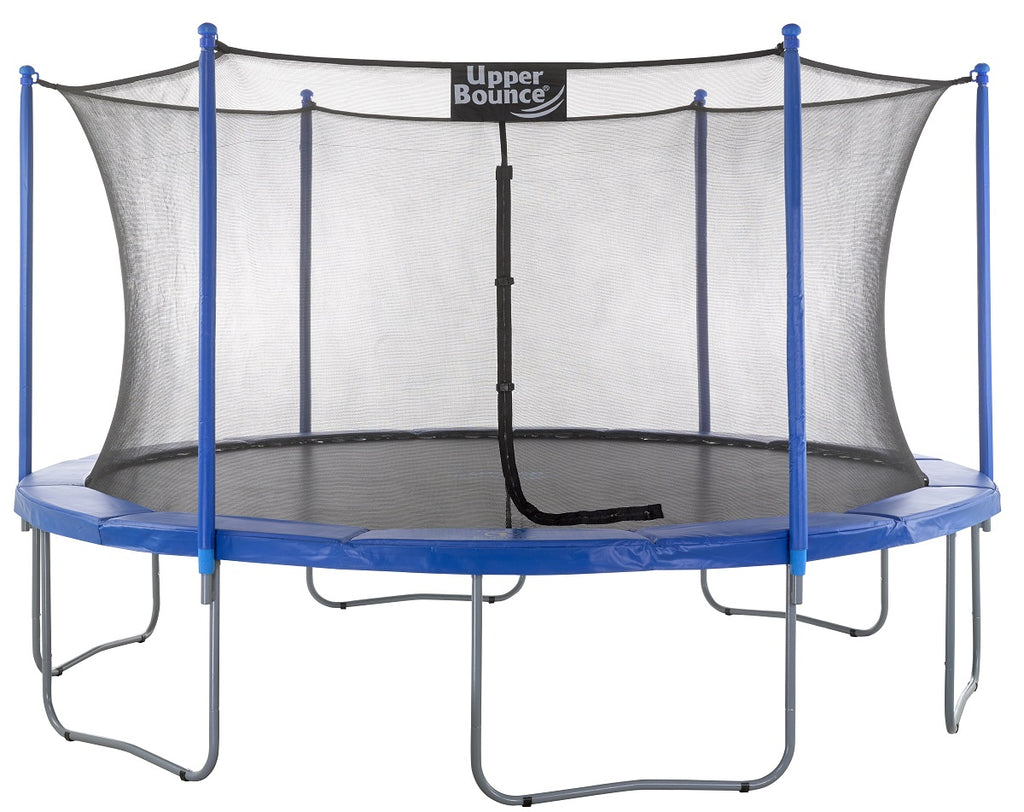 Upper Bounce  15 FT Round Trampoline Set with Safety Enclosure System - Blue