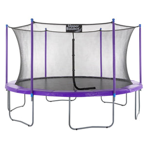 Upper Bounce  15 FT Round Trampoline Set with Safety Enclosure System - Purple