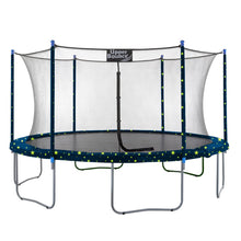 Load image into Gallery viewer, Upper Bounce  15 FT Round Trampoline Set with Safety Enclosure System - Starry Night