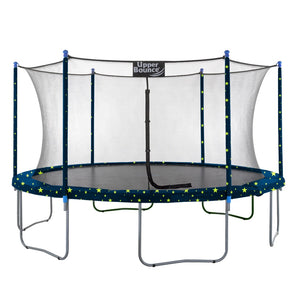Upper Bounce  15 FT Round Trampoline Set with Safety Enclosure System - Starry Night