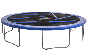 Upper Bounce  12 FT Round Trampoline Set with Safety Enclosure System - Blue