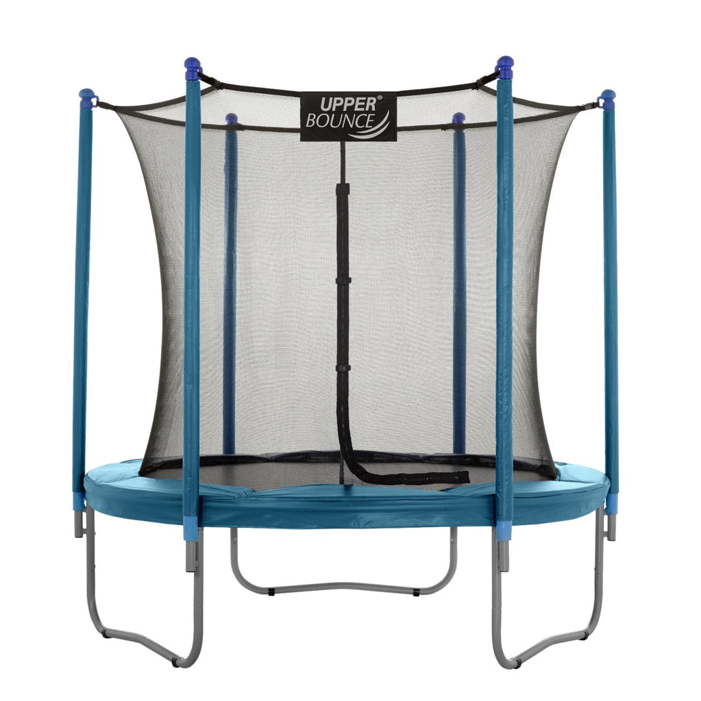 Upper Bounce  7.5 FT Round Trampoline Set with Safety Enclosure System - Aquamarine