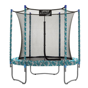 Upper Bounce  9 FT Round Trampoline Set with Safety Enclosure System - Maui Marble
