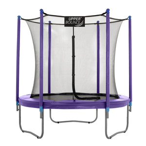 Upper Bounce  9 FT Round Trampoline Set with Safety Enclosure System - Purple