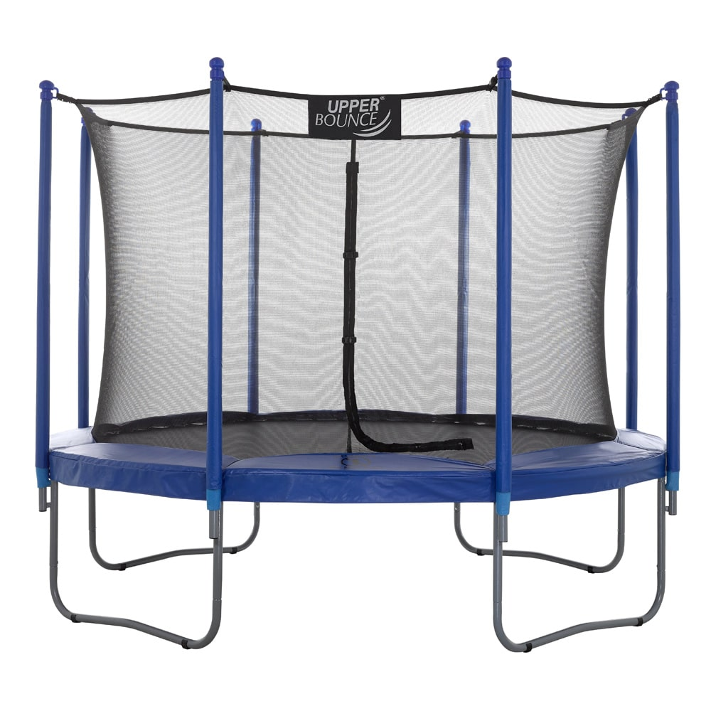 Upper Bounce 10 FT Round Trampoline Set with Safety Enclosure System
