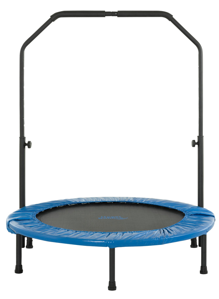 Upper Bounce Mini Round Foldable Rebounder Fitness Trampoline with Adjustable Handbar