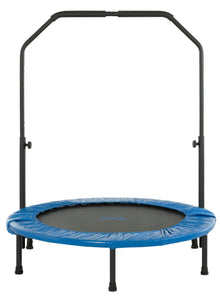 "Upper Bounce  40"" Mini Round Foldable Rebounder Fitness Trampoline with Adjustable Handbar"