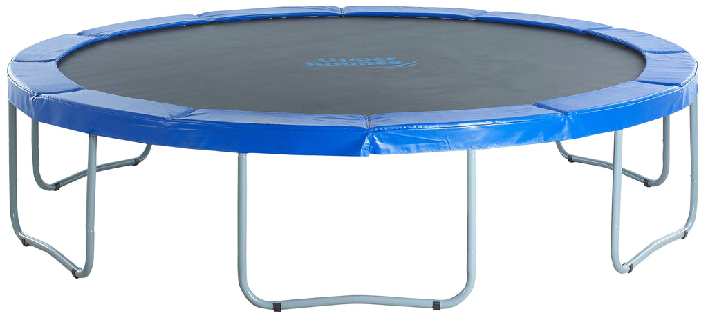 Upper Bounce  14 FT Round Trampoline Set with Safety Pad - Blue
