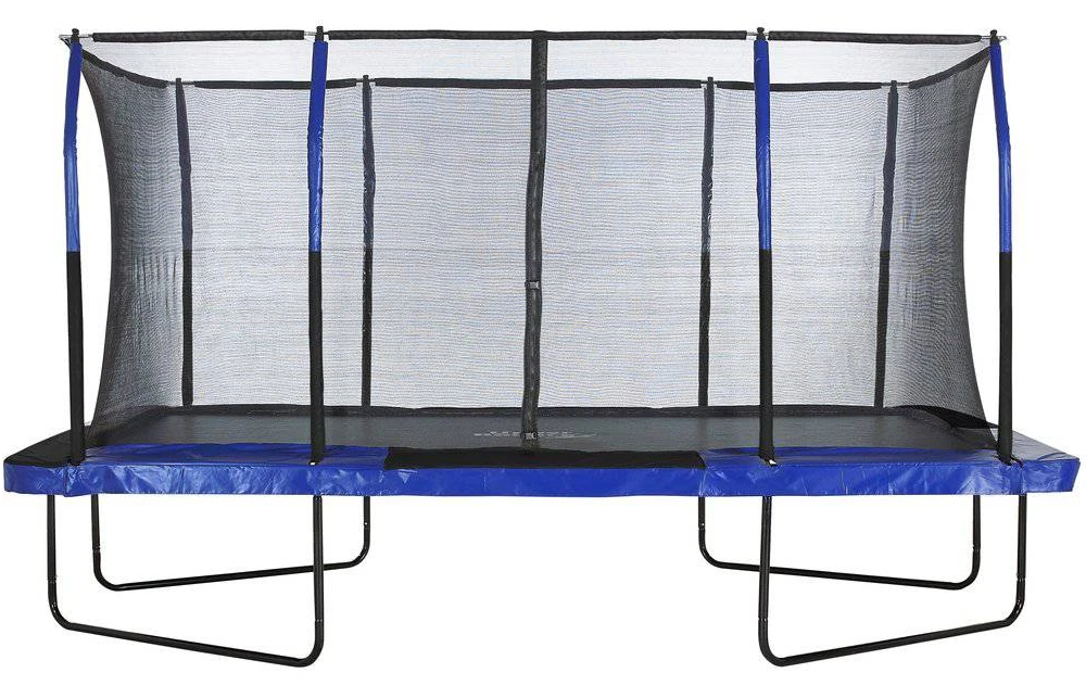 Upper Bounce 8 FT x 14 FT Gymnastics Style, Rectangular Trampoline Set with Premium Top-Ring Enclosure System