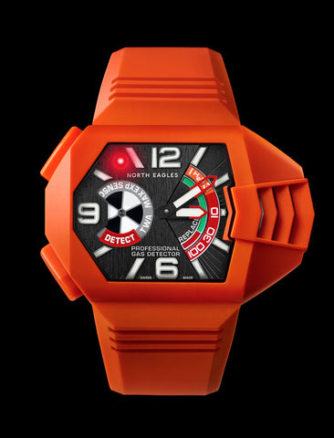 Beacon Orange H2S Gas Detector Watch