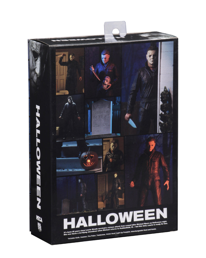 "This is a Halloween 2018 Michael Myers NECA 7"" ultimate action figure back of box."