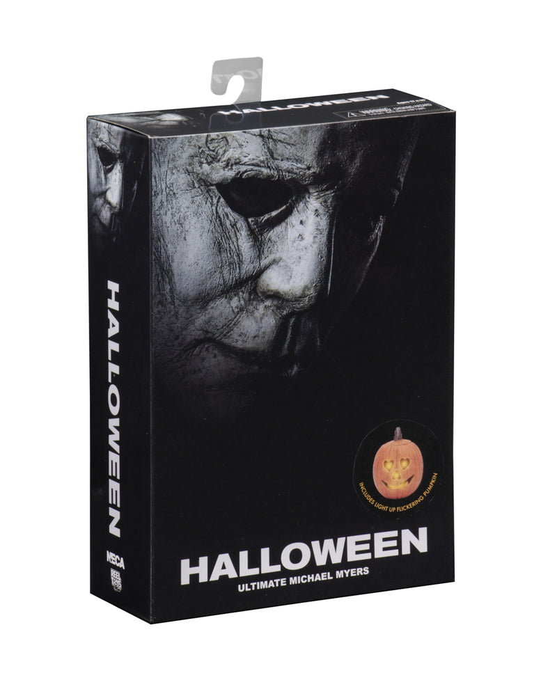 "This is a Halloween 2018 Michael Myers NECA 7"" ultimate action figure box front."
