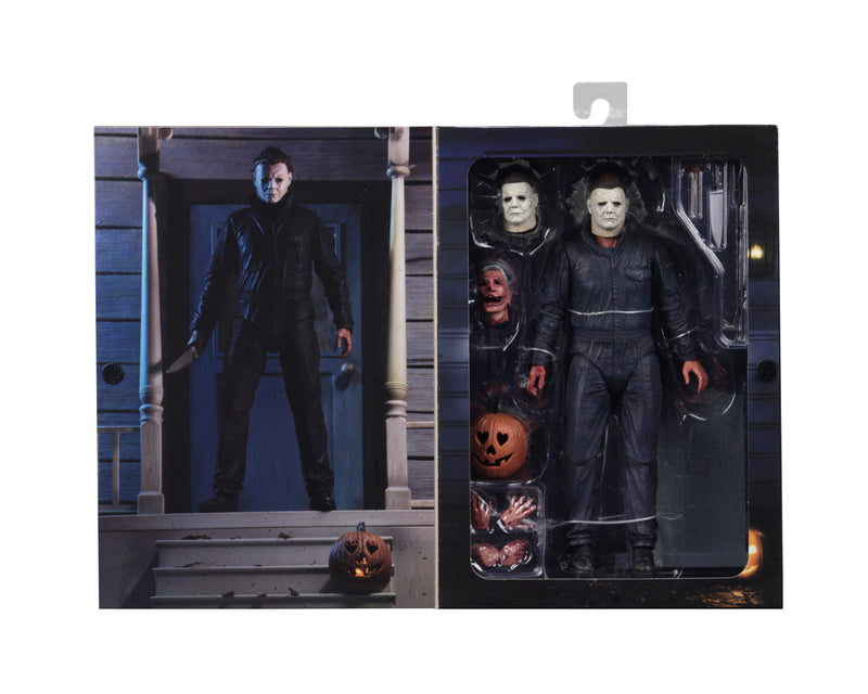"This is a Halloween 2018 Michael Myers NECA 7"" ultimate action figure box inside."
