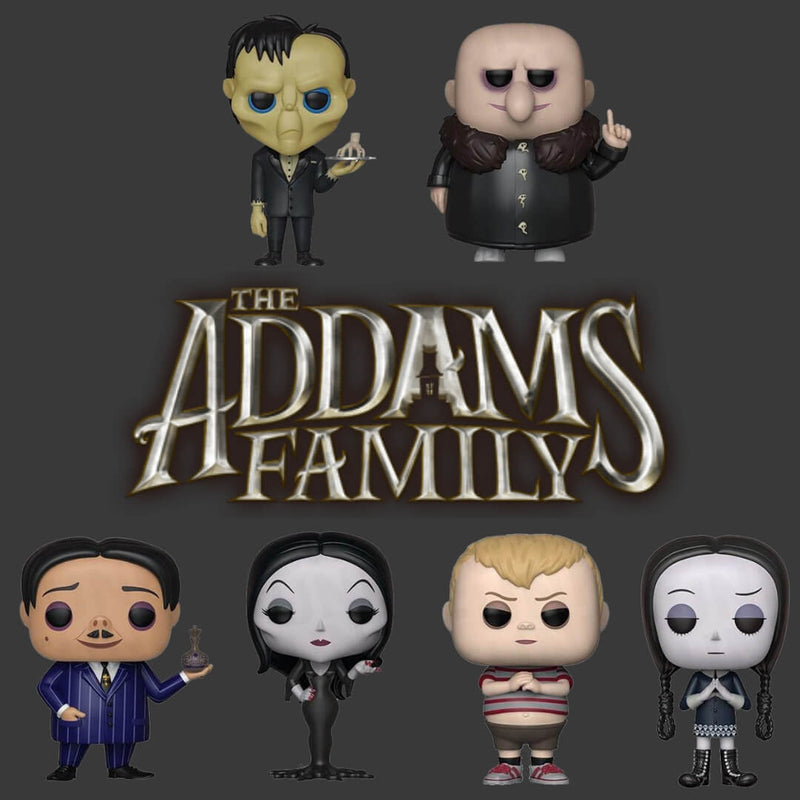 This is a Pop Vinyl Funko 6 piece set from the new animated 2019 movie The Addams Family