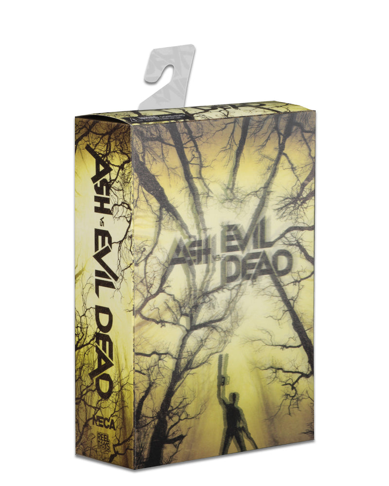 "This is an Ash vs Evil Dead 7"" Intimate NECA action figure lenticular box front."